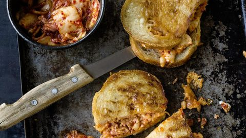 Grilled Cheese Sandwich mit Kimchi