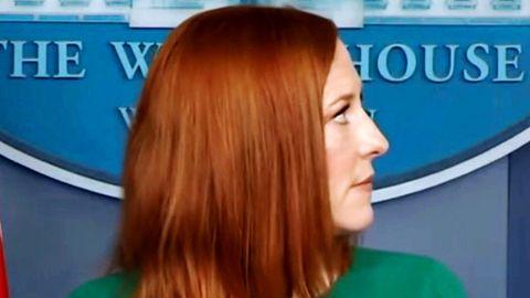Jen Psaki bei einer Pressekonferenz im Weißen Haus