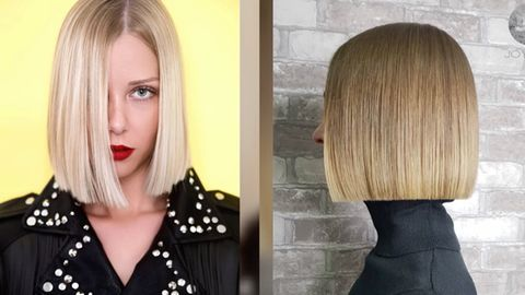 Flat Bob: Diese Frisur liegt besonders im Frühjahr und Sommer 2021 im Trend.
