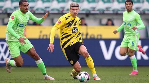 Dortmunds Haarland im Spiel gegen den VfL Wolfsburg