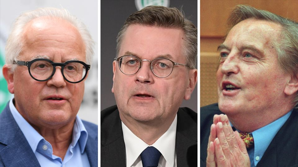 Fritz Keller, Reinhard Keller, Gerhard Meyer Vorfelder