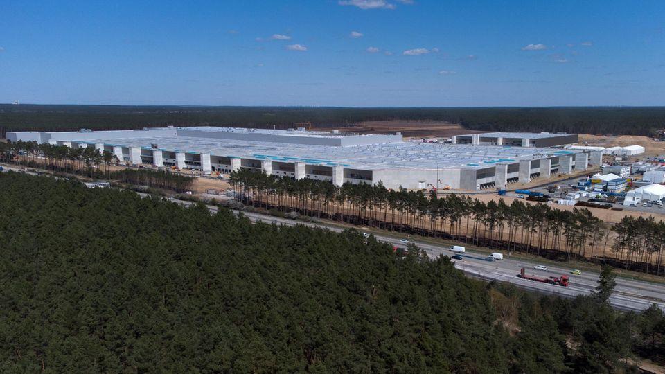Tesla-Fabrik in Grünheide, Brandenburg