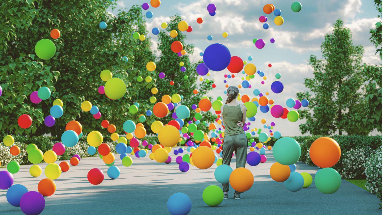 Eine Frau hatte wenig Freude an den Ballons für ihre Geburstagsparty (Symbolbild)