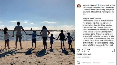 Die Familie am Strand