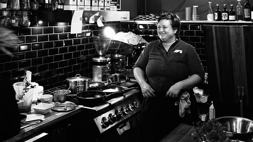 Nóra Horváth in ihrem Restaurant, Bistro Spajz