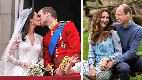 Herzogin Kate und Prinz William feiern ihren zehnten Hochzeitstag