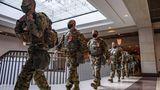 Soldaten positionieren sich im US-Kapitol in Washington