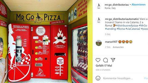 Nahe der Piazza Bologna in Rom steht nun ein Pizza-Automat eines italienischen Start-ups.