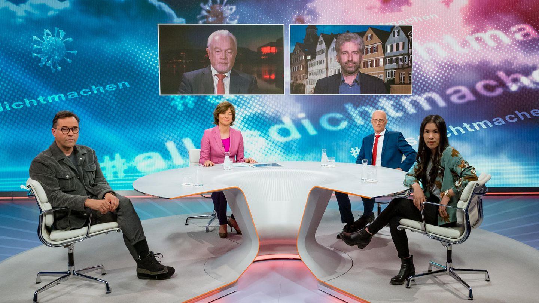 ZDF-Moderatorin Maybrit Illner und ihre Gäste