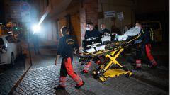 Rettungskräfte am Potsdamer Tatort