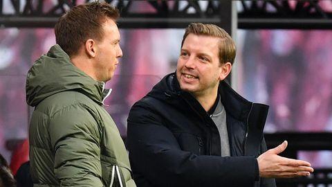 Julian Nagelsmann (l.) und Florian Kohfeldt im vergangenen Dezember