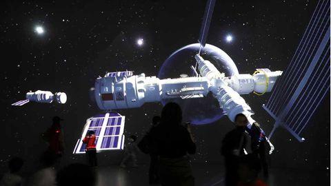 Ansicht der chinesischen Raumstation