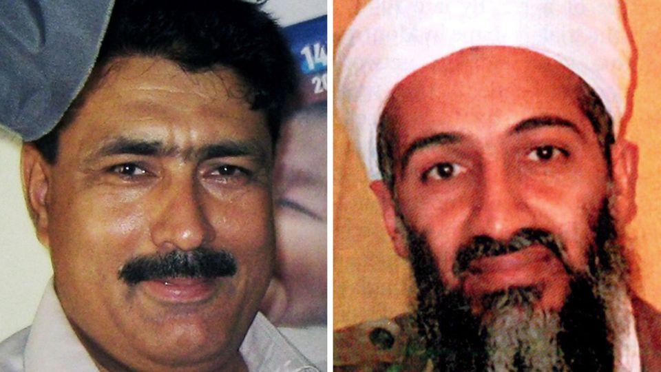 Arzt Shakeel Afridi und Al-Kaida-Führer Osama bin Laden