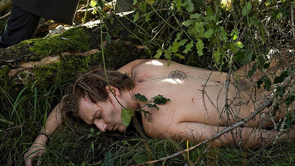 """Matthias Zera als nackte Moor-Leiche im Münster-""""Tatort"""""""