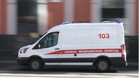 Ein Krankenwagen in Russland, Moskau