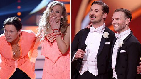 """Evgeny Vinokurov und Ilse DeLange (l.) müssen """"Let's Dance"""" verlassen, dafür kehren Nicolas Puschmann undVadim Garbuzov zurück"""