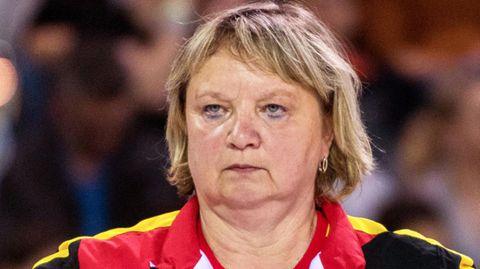 Die deutsche Frauen-Trainerin Gabriele Frehse 2017 bei den Europameisterschaften in Rumänien
