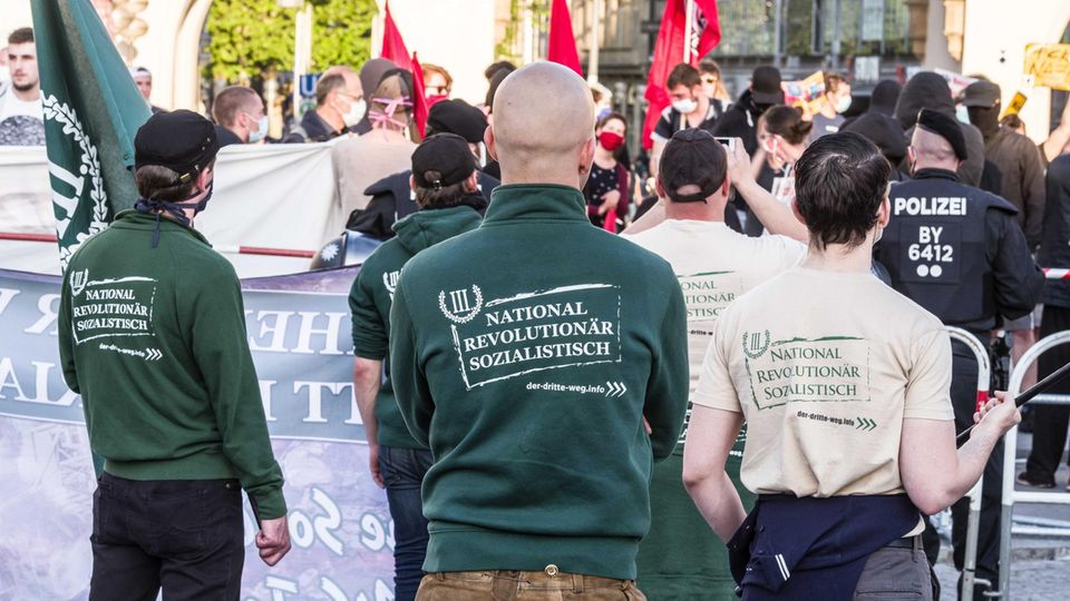 Neonazi-Aufmarsch im Mai 2020 in München