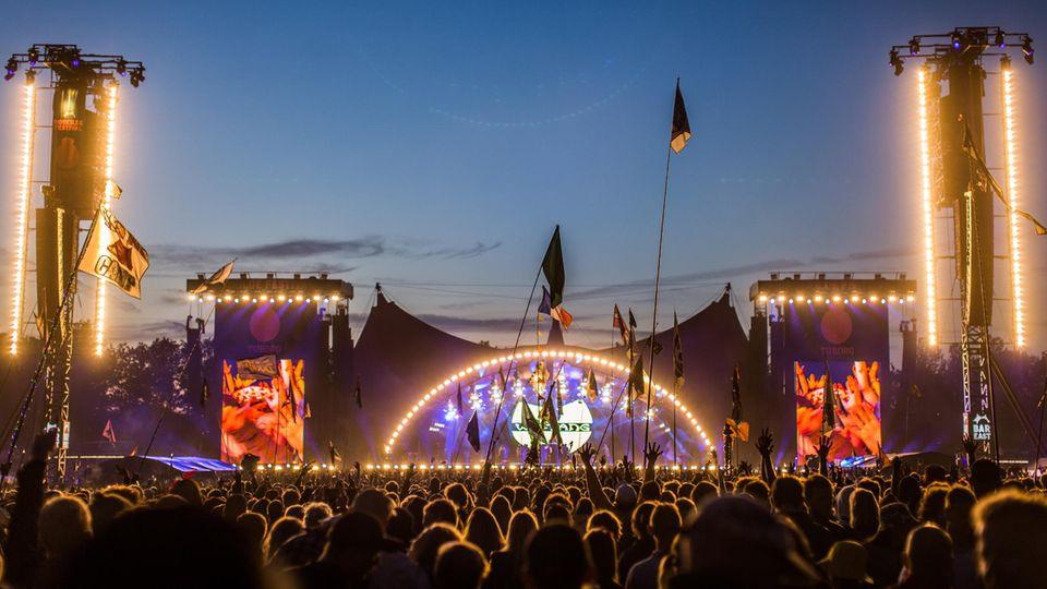Die Hauptbühne beim Roskilde Festival