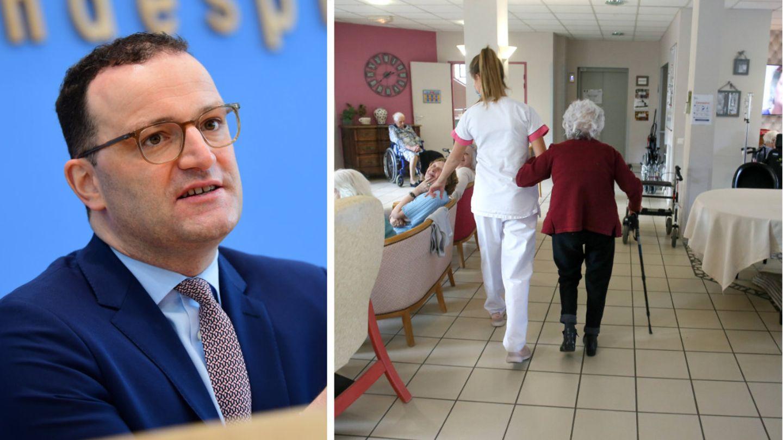 Bundesgesundheitsminister Jens Spahn; Szene aus dem Pflegeheim