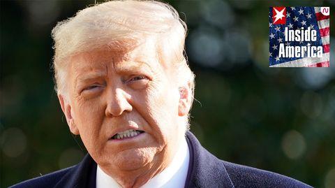 Donald Trump im Januar 2021 kurz vor dem Ende seiner Amtszeit