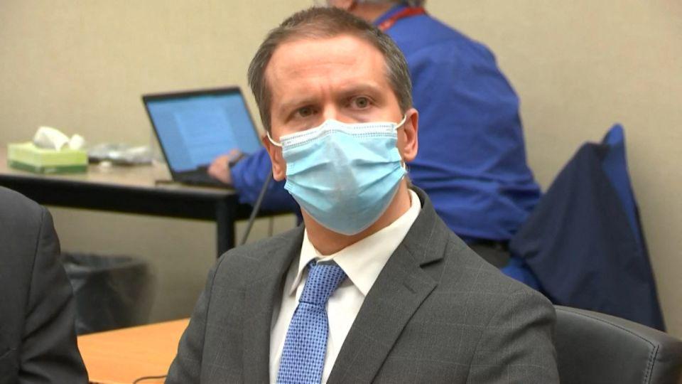 Derek Chauvin bei der Urteilsverkündung im April 2021