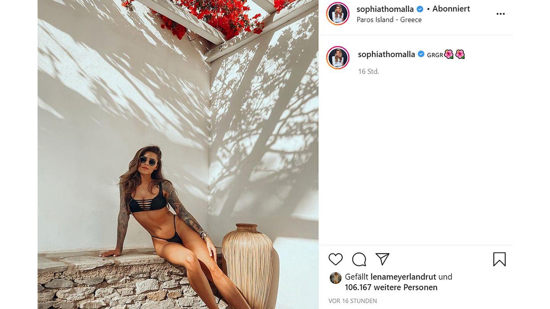 Vip News: Sie nennt es Arbeit: Sophia Thomalla für Dreharbeiten in Griechenland