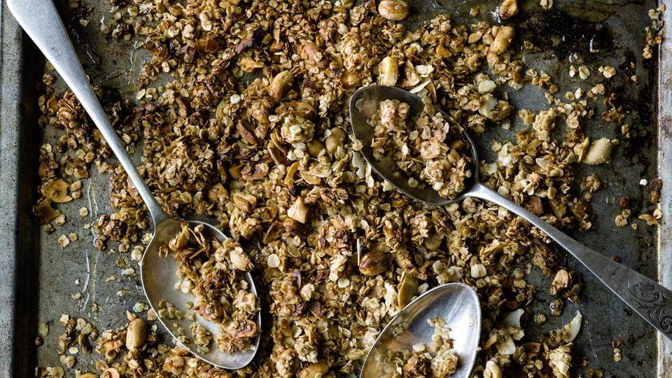 Granola aus dem Ofen