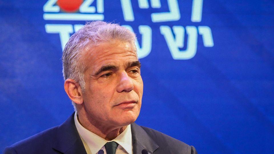 Israel, Tel Aviv: Jair Lapid, Vorsitzender der oppositionellen Partei Yesh Atid