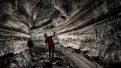Kazumura Cave auf Hawaii