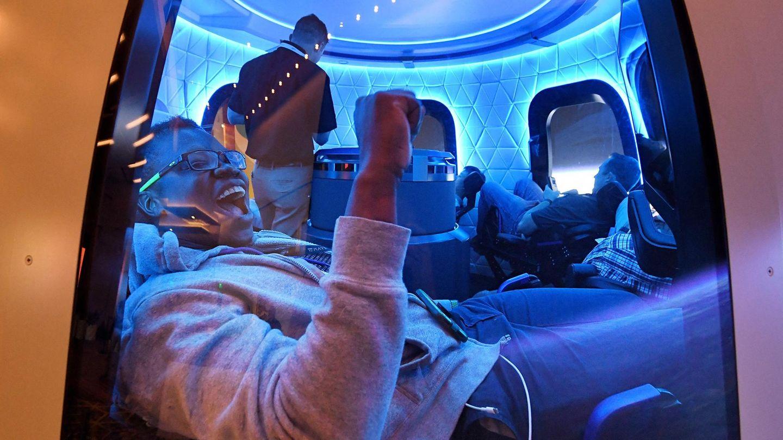 ImBlue Origin Space Simulator: Bereits jetzt läuft der Countdown für die Online-Versteigerung der Tickets.