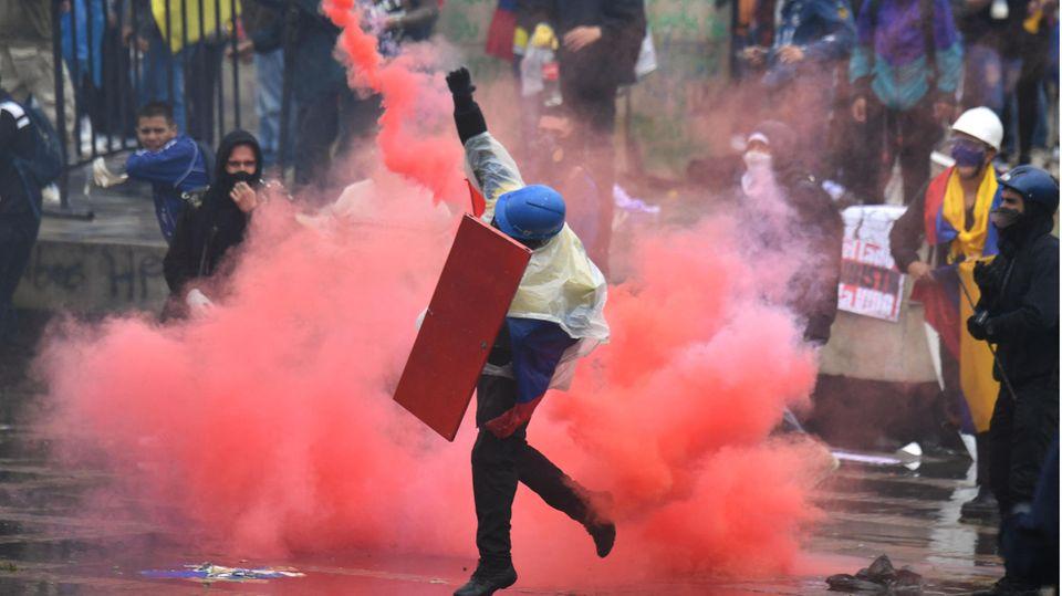 Gewaltsame Proteste in Kolumbien