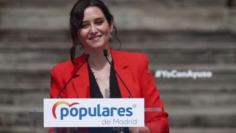 """Unterdem Motto """"Freiheit oder Kommunismus"""" führte AmtsinhaberinIsabel Diaz Ayuso einen erfolgreichen Wahlkampf"""