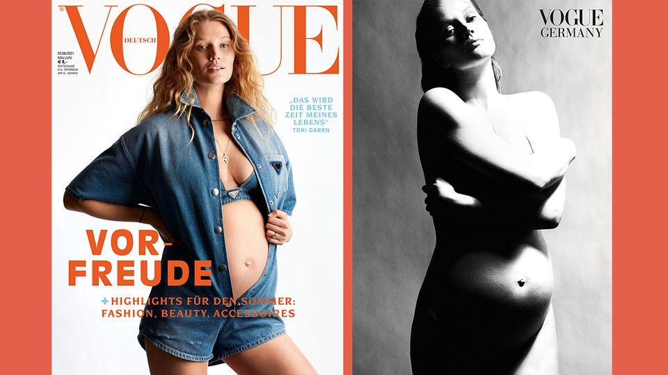"""Toni Garrn auf dem Cover der deutschen """"Vogue"""""""