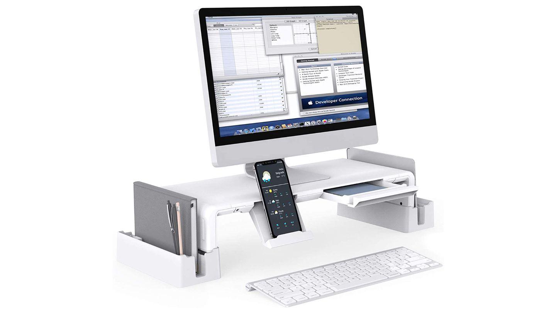 Monitorständer mit Gadgets