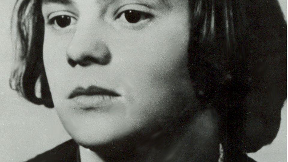 """Undatiertes Foto von Sophie Scholl, die als Mitglied der Münchner Widerstandsbewegung """"Weisse Rose"""" vom NS-Regime 1943 hingerichtet wurde"""