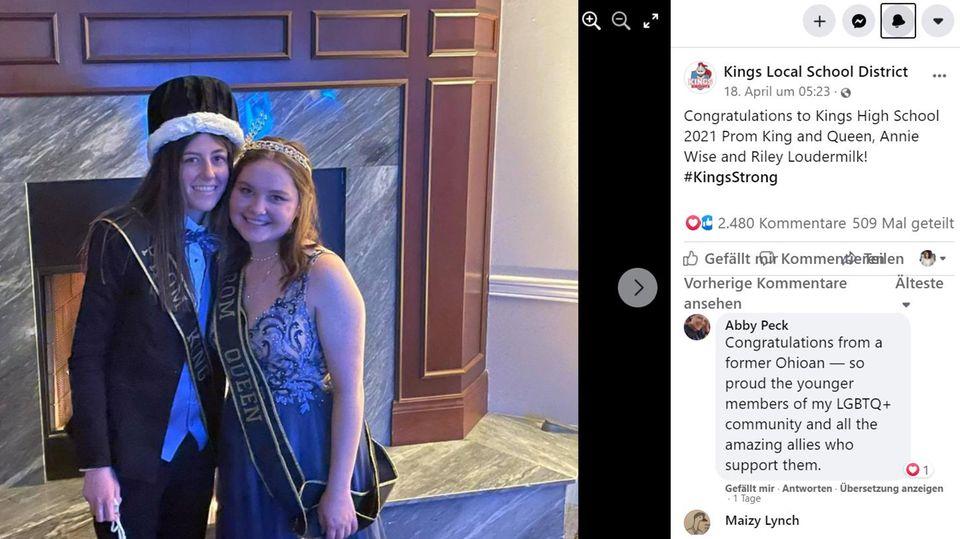Annie Wise und Riley Loudermilk sind als homosexuelles Paar zu den Schulköniginnen ihrer High School gewählt worden