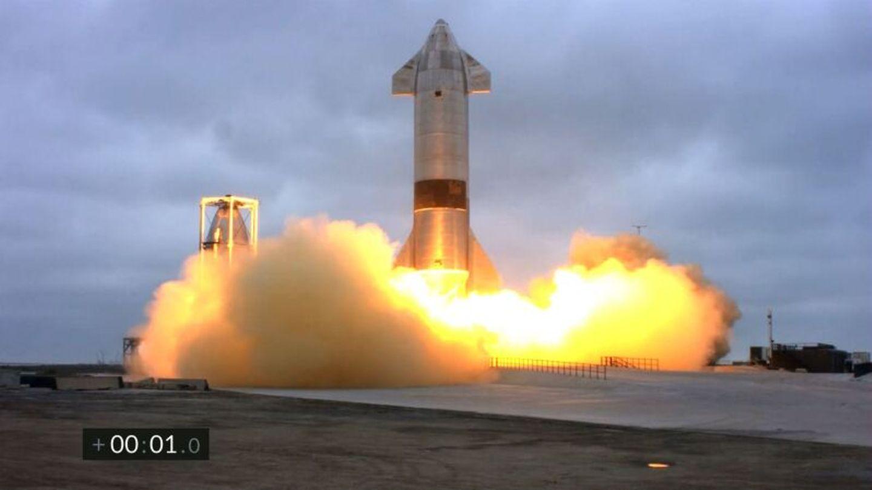 Das Raumschiff Space X SN15 landet am 5. Mai n Texas