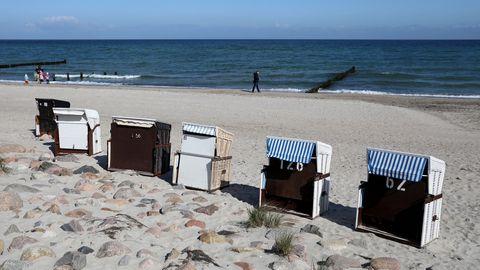 Strandkörbe an der Ostsee.
