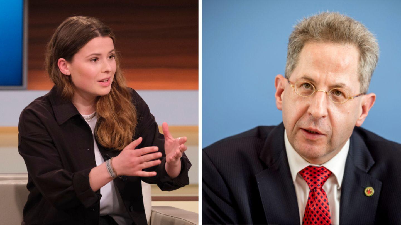 """Klimaaktivistin Luisa Neubauer (l.) in der Sendung """"Anne Will"""""""