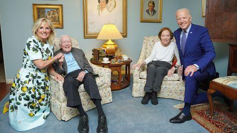 Joe und Jill Biden besuchen Ex-US-Präsident Jimmy Carter und seine Frau.
