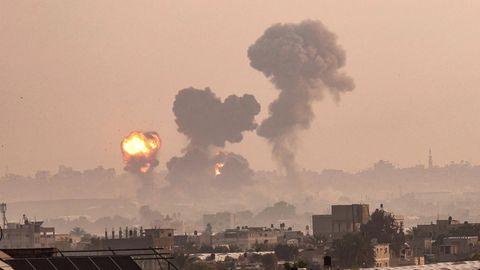 Angriffe von Israels Luftwaffe auf Gazastreifen