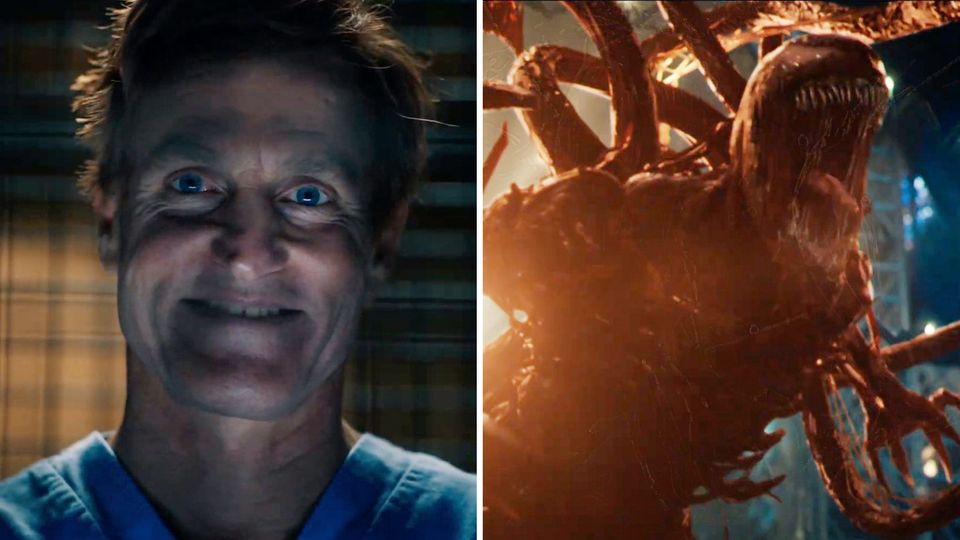 """Woody Harrelson in """"Venom: Let There Be Carnage""""."""