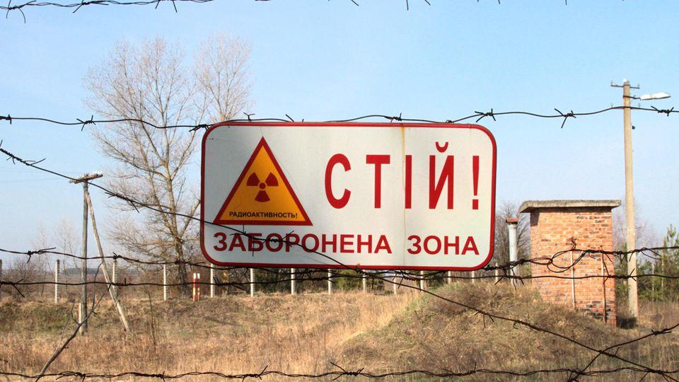 Blick auf die Sperrzone in Tschernobyl