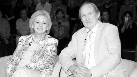 Ingrid Kalinowski mit ihrem Mann Klaus bei einer TV-Aufzeichnung 2015