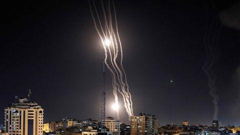 Raketen werden aus dem Gaza-Streifen in Richtung Israel abgefeuert