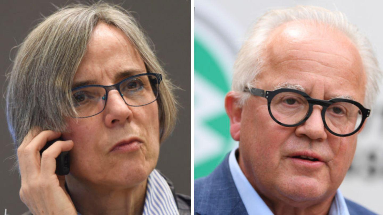 Sylvia Schenk; DFB-Präsident Fritz Keller