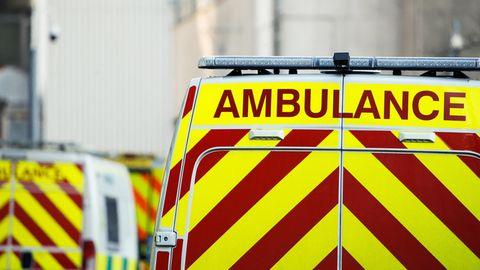 Ein Krankenwagen als Symbolfoto für eine Geschichte aus Blackpool