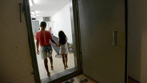 Kinder in einem Bunker in der südisraelischen StadtAshkelon