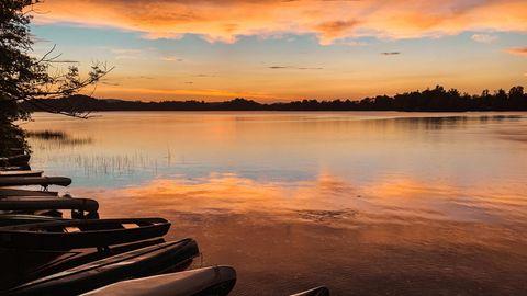 der Staffelsee bei Sonnenuntergang